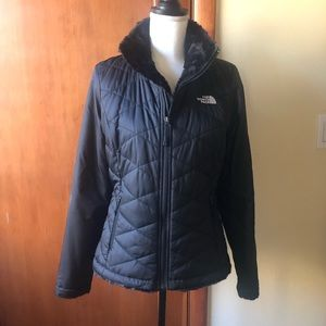 { THE NORTH FACE } fleece lined jacket / coat